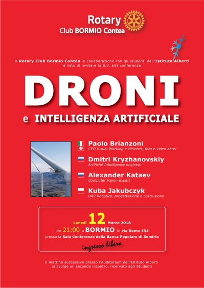 DRONI e INTELLIGENZA ARTIFICIALE